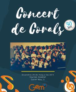 Concert Corals 50 anys